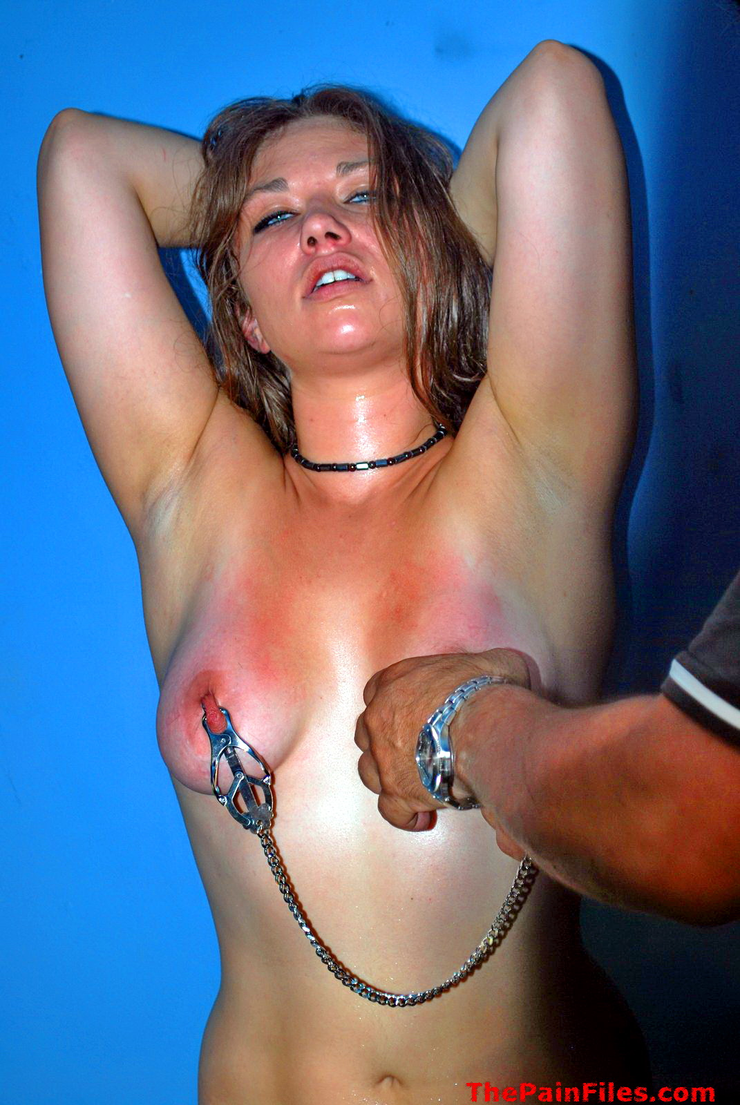 Painful nipple torture