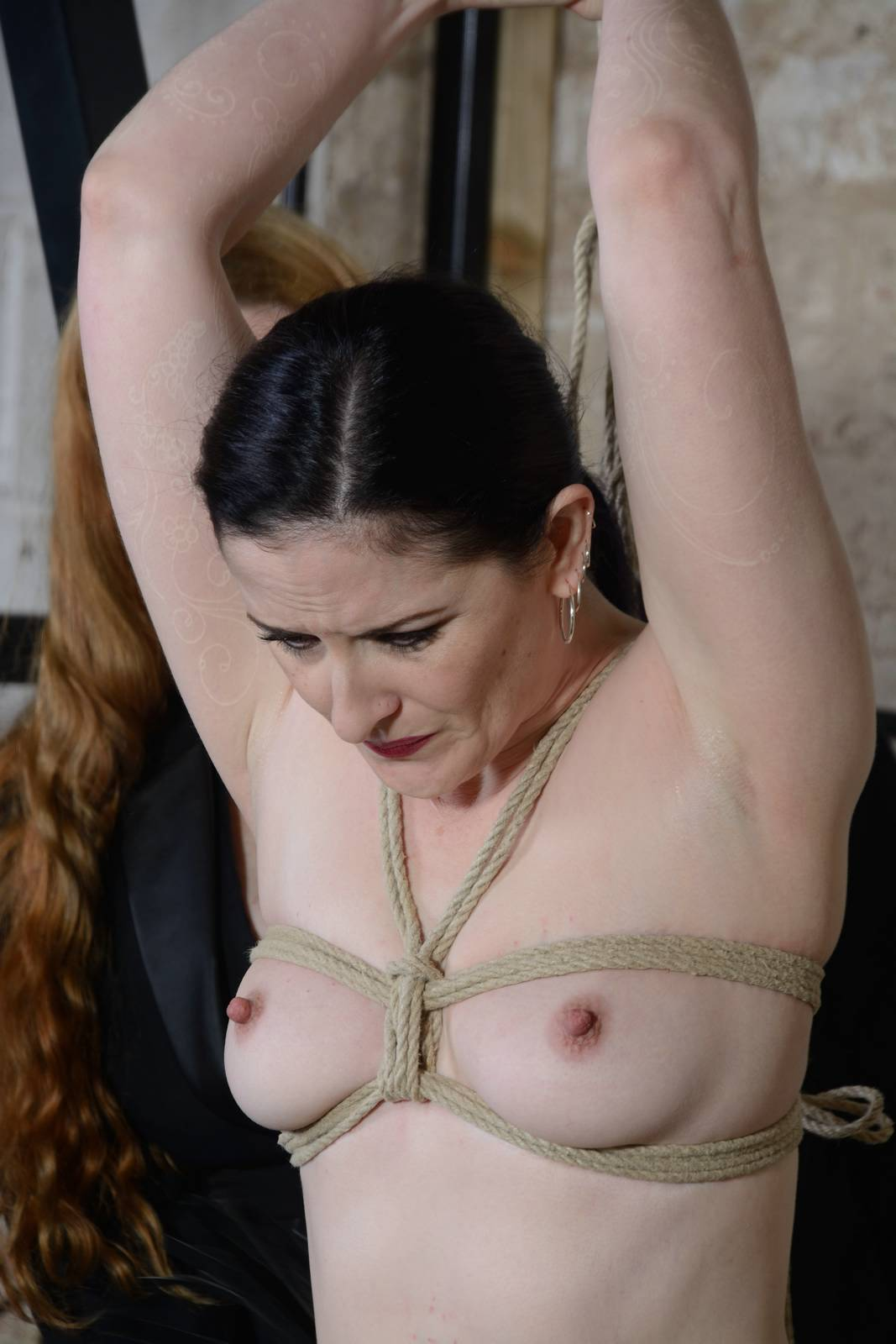 Around wrapped big her tits